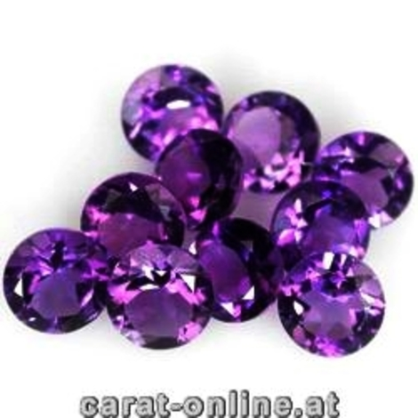 Amethyst Lot round 3.0 ct