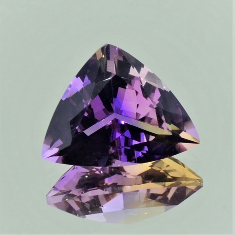 Ametrine trillion 10.79 ct