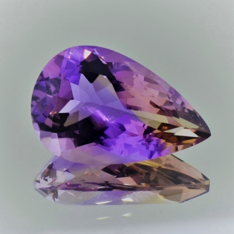 Ametrine pear 18.62 ct