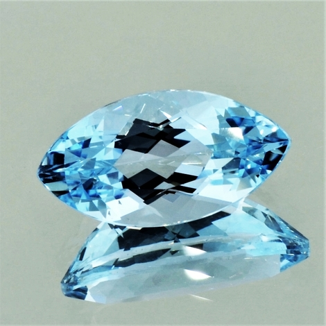Aquamarine marquise light blue 10.55 ct