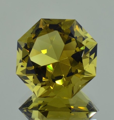 Citrine Achteck-Design yellowish 35.63 ct