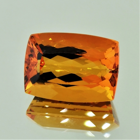 Citrine cushion orange 16.30 ct