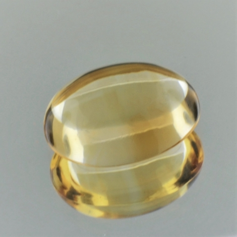 Citrine Cabochon oval yellow 14.35 ct