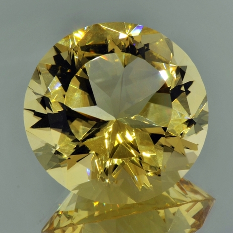 Citrine round fantasy yellow unheated 236.33 ct