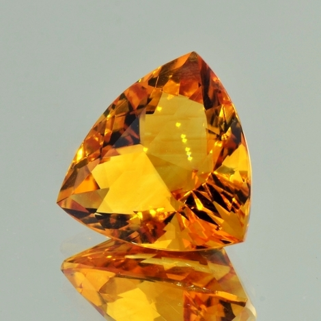 Citrine trillion orange 20.30 ct