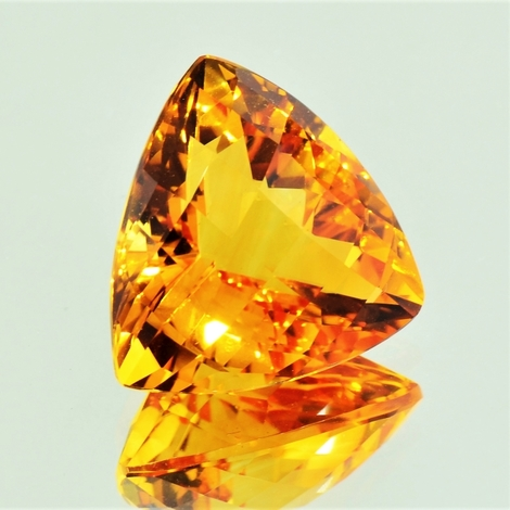 Citrine trillion-checkerboard orange 17.02 ct
