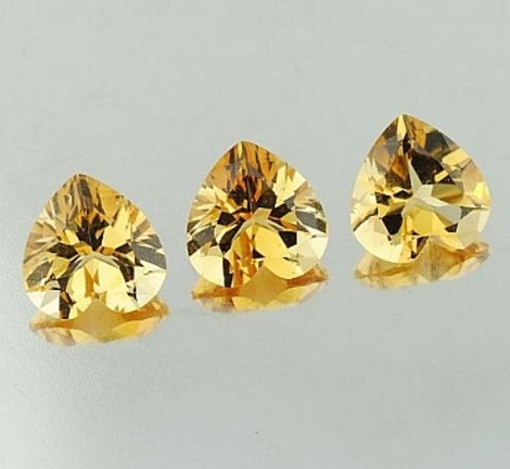 Citrin Trio Herz 4,42 ct