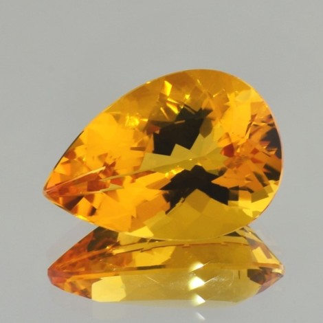 Citrine pear yellow orange 29.37 ct.
