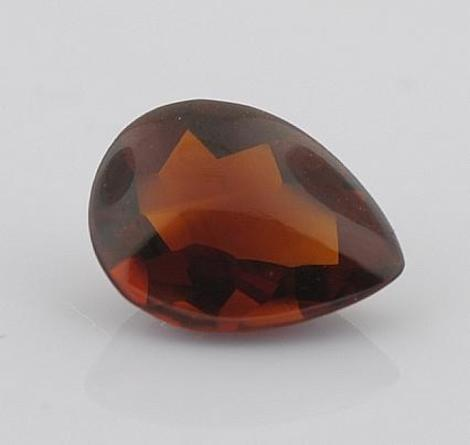 Citrin Tropfen orange-braun 1,3 ct
