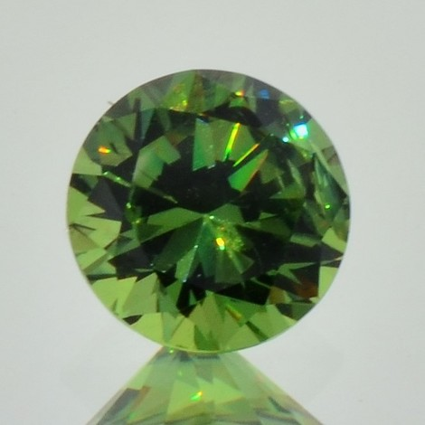Demantoid round brilliant 1.73 ct