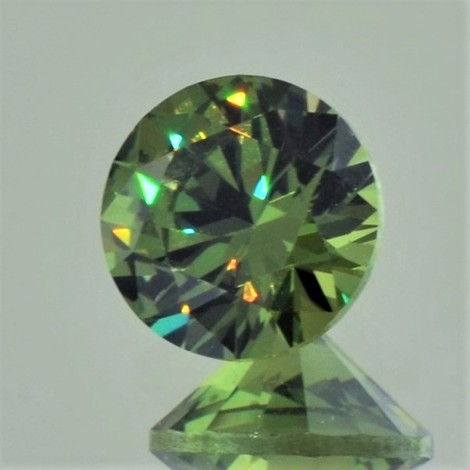 Demantoid Granat rund-brillantiert 2,52 ct