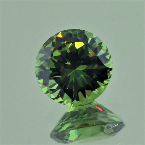 Demantoid Garnet round green 1.36 ct