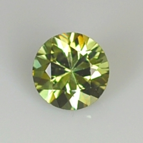 Demantoid round yellowish green