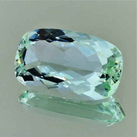 Beryl cushion light green 23.79 ct