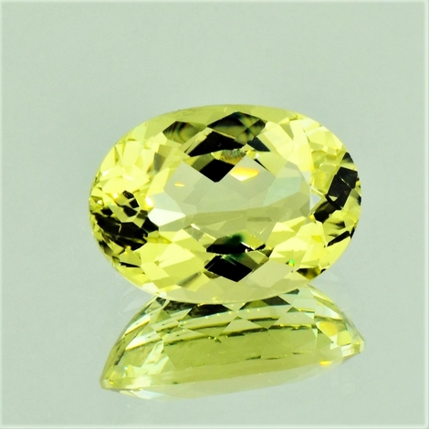 Beryl oval yellow 7.38 ct