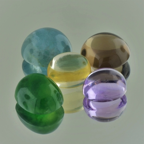 Farbstein Lot Cabochons multicolor 43,65 ct