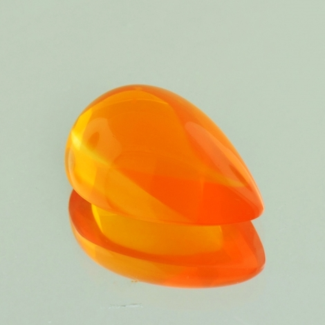 Feueropal Cabochon Tropfen orange 12,08 ct
