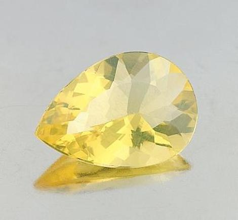 Fire Opal pear yellow 5.55 ct
