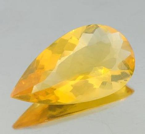 Fire Opal pear golden yellow 8.82 ct