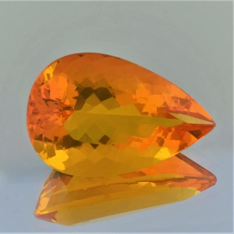 Feueropal Tropfen orange 21,56 ct