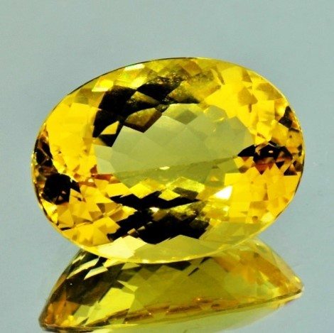 Goldberyll oval goldgelb 16,99 ct
