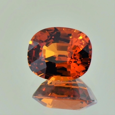 Garnet Spessartite cushion dark orange 5.76 ct