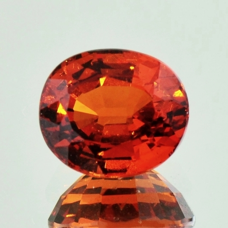 Garnet Spessartite oval dark orange 5.47 ct