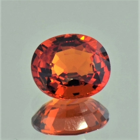 Garnet Spessartite oval reddish orange 3.70 ct