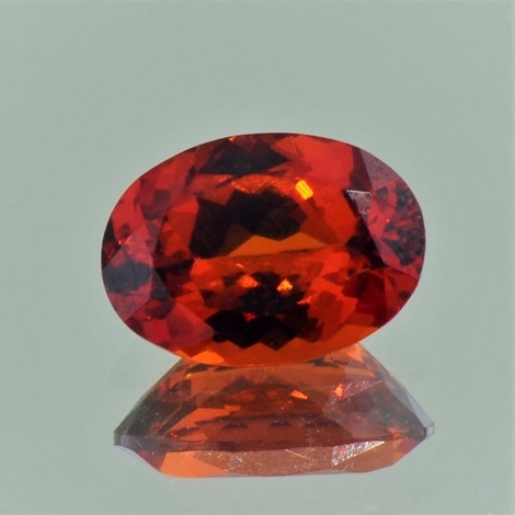 Garnet Spessartite oval reddish orange 4.17 ct
