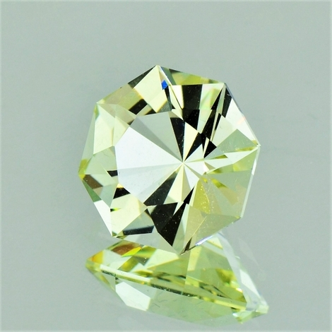 Beryl Heliodore Achteck-Design light yellow 4.97 ct