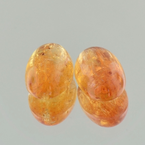 Imperial Topaz Pair cabochon oval 17.79 ct