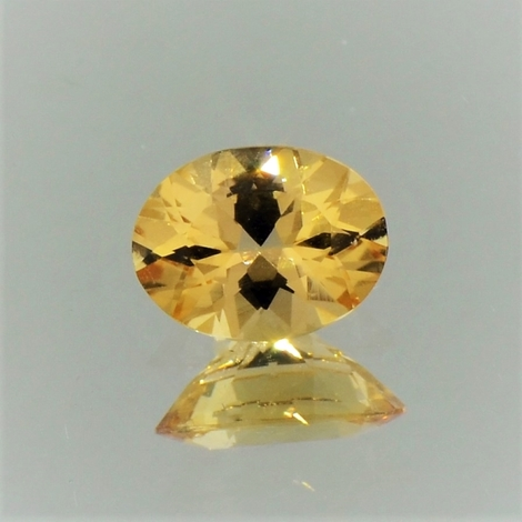 Imperial-Topas oval goldgelb 1,18 ct