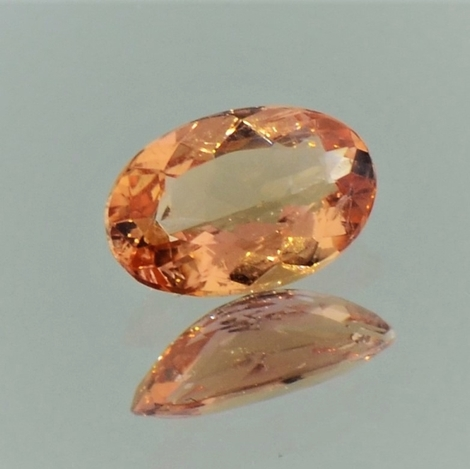 Imperial Topaz oval pinkish orange 1.16 ct