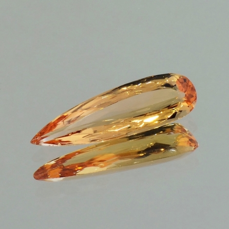 Imperial Topaz pear yellow orange 4.33 ct