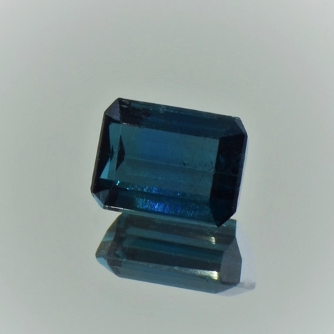 Indicolite Tourmaline octagon blue 2.28 ct