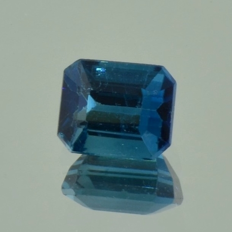 Indicolite Tourmaline octagon blue 2.32 ct