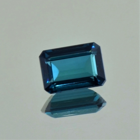 Indicolite Tourmaline octagon blue 2.55 ct