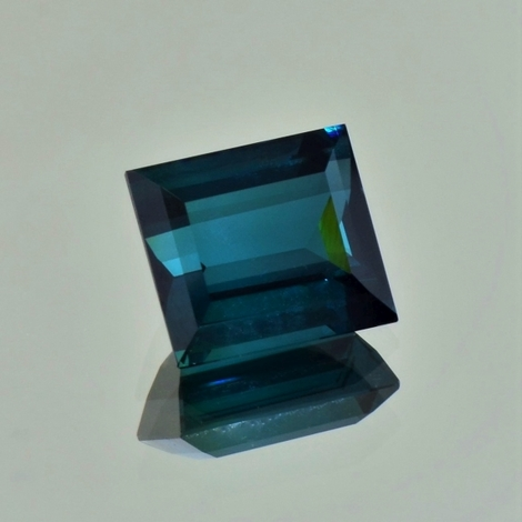 Indicolite Tourmaline rectangle blue 6.39 ct