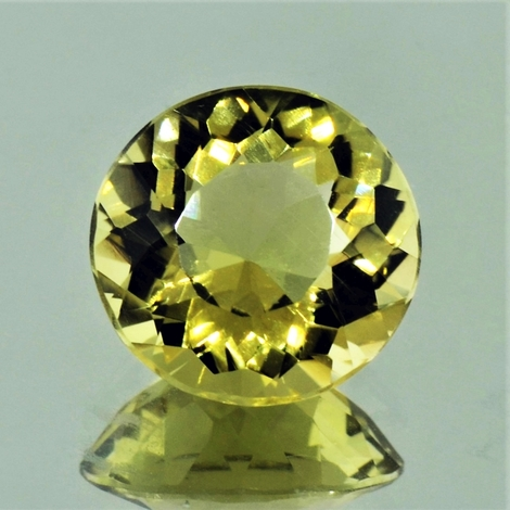 Lemon-Quarz rund 8,18 ct
