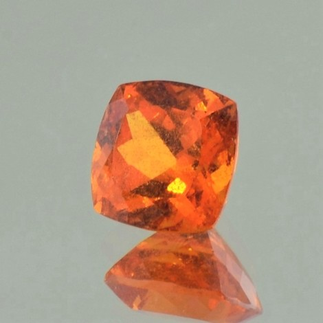 Mandarin-Garnet square cushion orange 4.73 ct