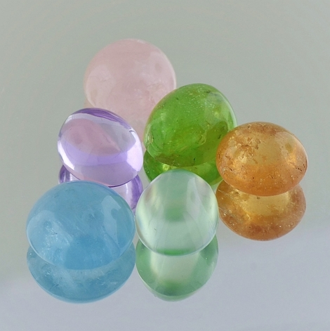 Mixed Lot Cabochons multicolor 34.88 ct