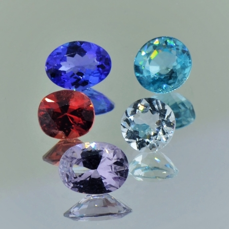 Mixed Lot faceted multicolor 4.91 ct