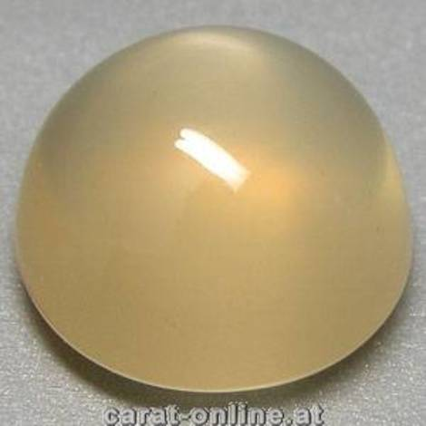 Moonstone Cabochon round yellowish 12.81 ct