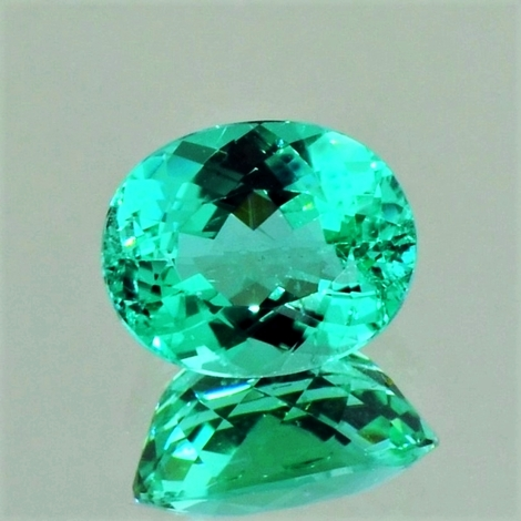 Paraiba Tourmaline oval green (neon) 2.42 ct