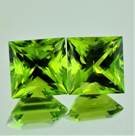 Peridot Duo Princess 7,98 ct