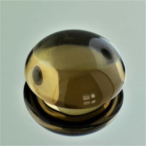 Smoky Quartz Cabochon round 35 ct