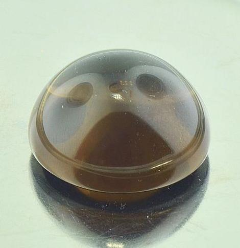 Smoky Quartz Cabochon round 40 ct