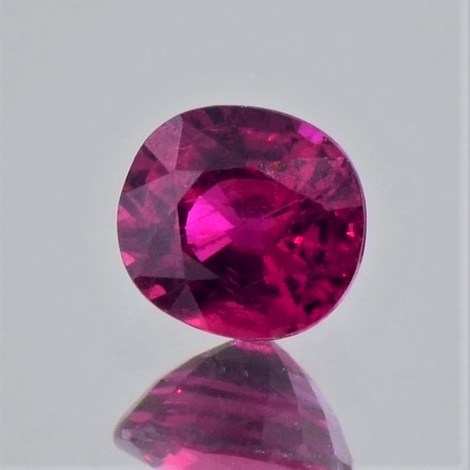 Ruby oval unheated red 1.24 ct