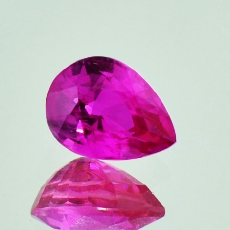 Ruby pear unheated pinkish red 1.50 ct