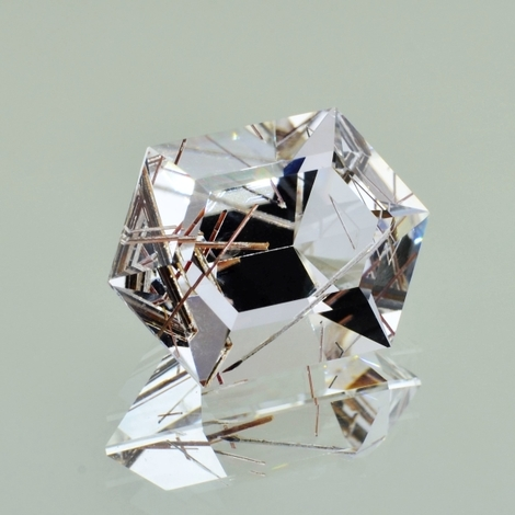Rutilquarz Design-Hexagon farblos 16,97 ct